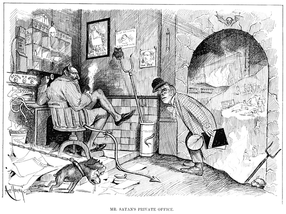 R. Palasco Drant visits Satan's private office in 1892.