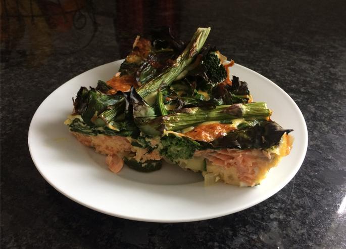 salmon-frittata