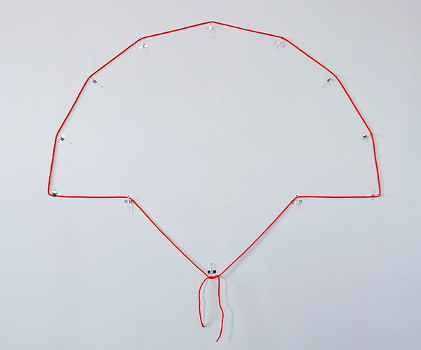 Measuring for Brand Placement Rope, Glass Pins, Aluminum Tape, Approximately 3' x 4', Collaboration