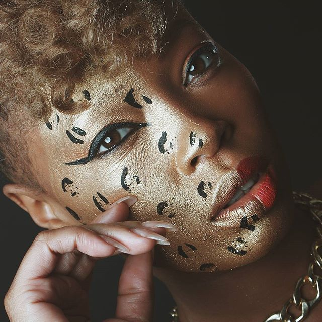 Photographer: BlackIce MUA: @thediva_mua78 Model: @epic7782  #melanin #blackgirlmagic #atl #atlmua #atlphotos #models #atlmodels #mua #photoshootready #agency #art #bodypaint #editorial #headshot
