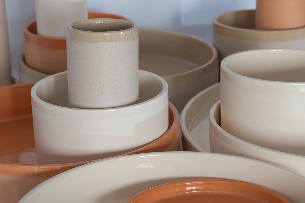Detalhes dos vasos da coleção Aterrário