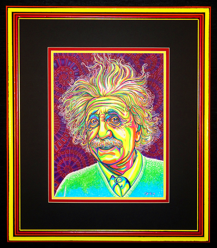 Neon Einstein framed