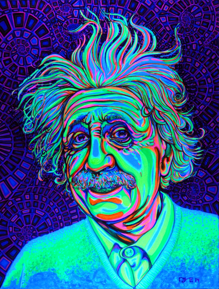 Neon Einstein black light