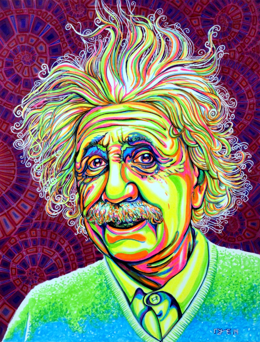Neon Einstein white light