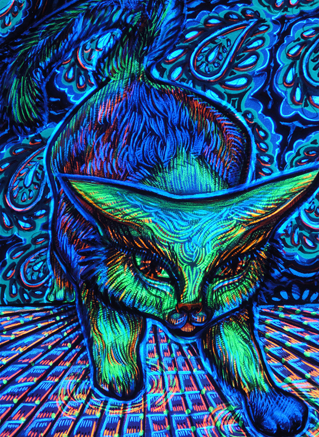 Neon Kitty black light
