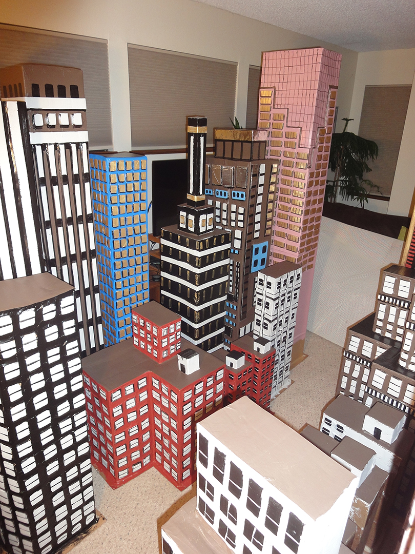 Carboard City Painted