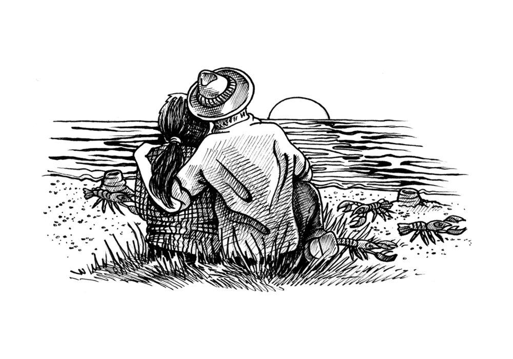 Crawdad illustration