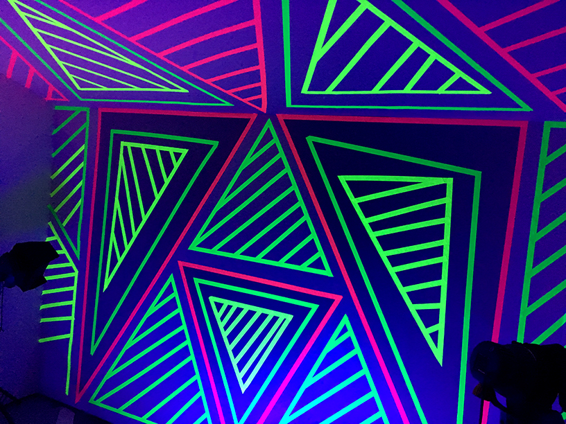 80's Room, Neon Wall Pattern