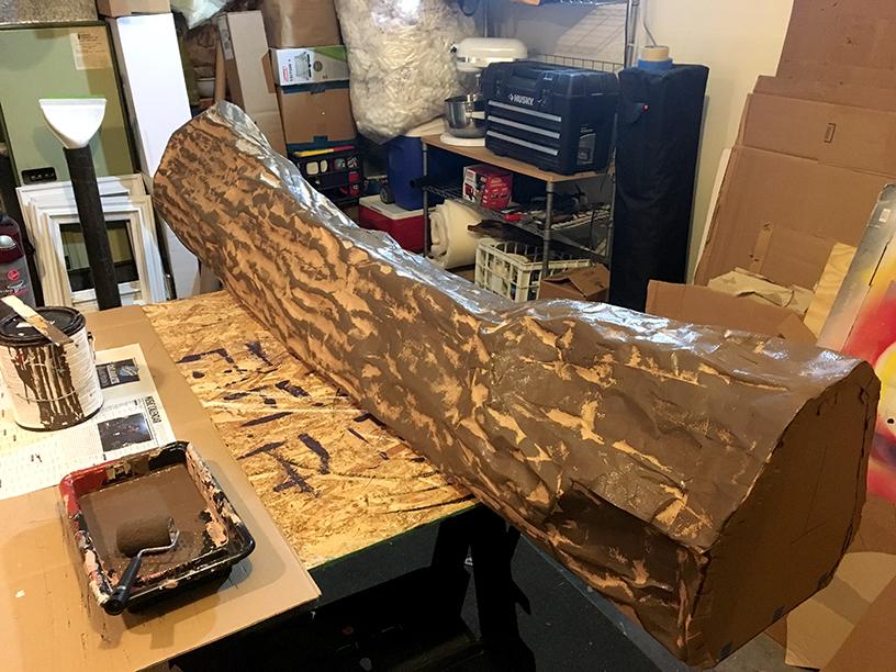Column Painting Process
