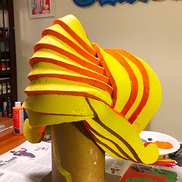 Foam Wig Painting Process