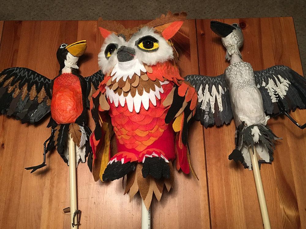 red yarn born in the DW bird puppets1 web.jpg