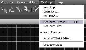 Open Maxscript Listener Screen Capture