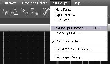 Open Maxscript Listener Screen Capture
