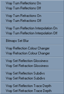 Vray Material Short Cuts Screen Cap