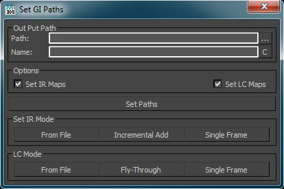 V-Ray Set GI Paths