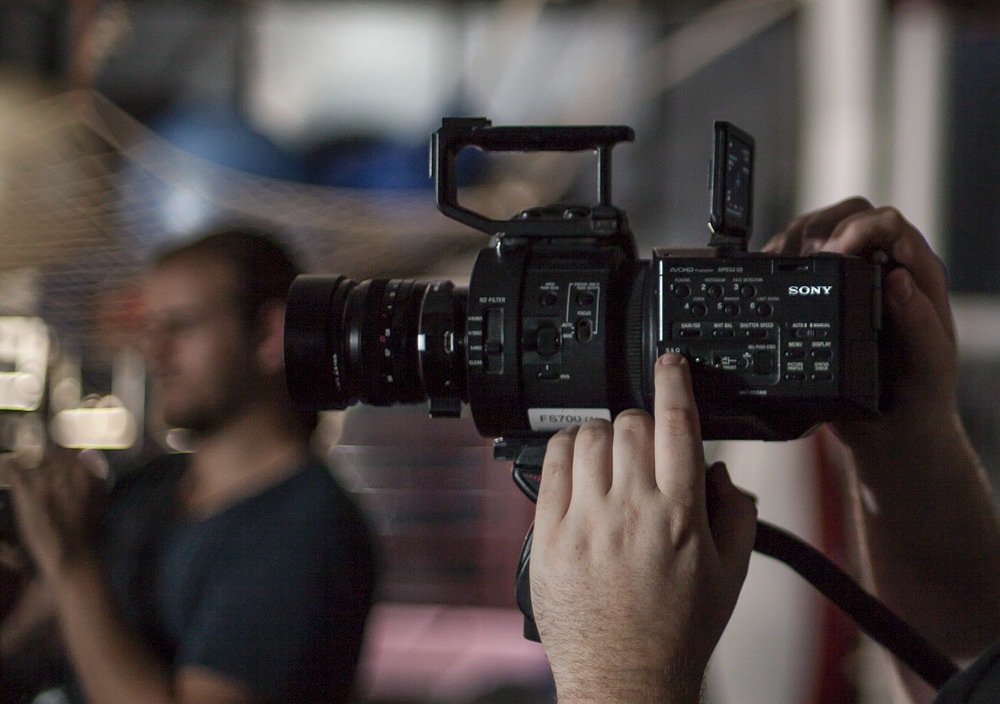 FS700 On Set. Photo By Peter Drew