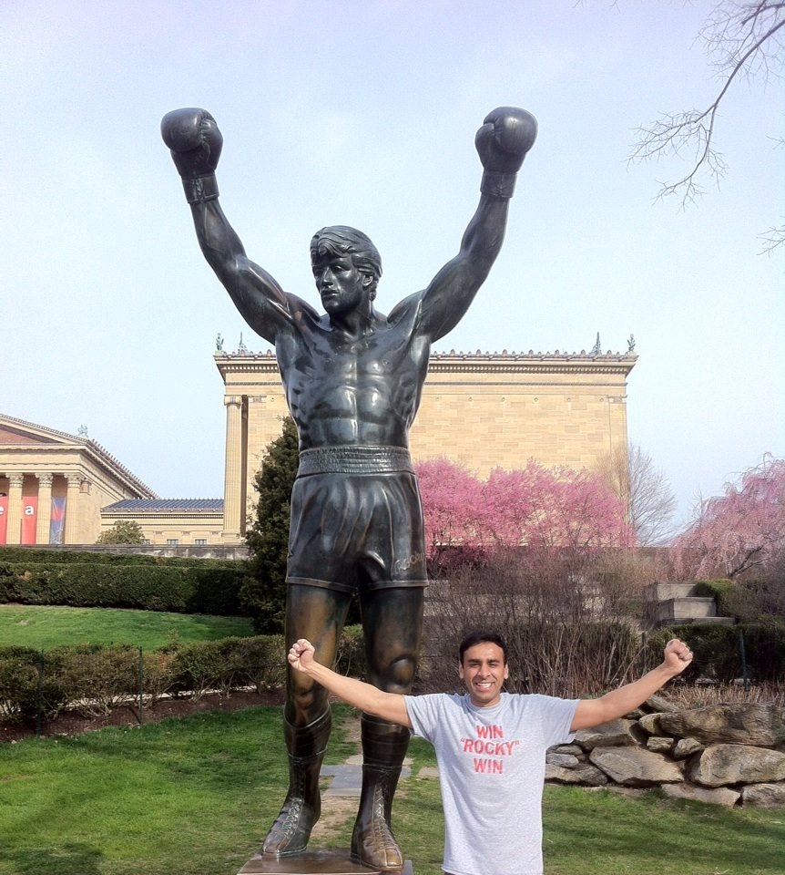 What a great day at the statue!.