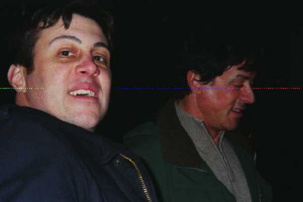 On set in Kensington with Southpaw, Rocky Balboa in 2006.