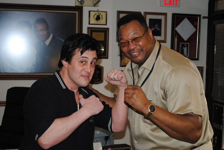 The Easton Assassin, Larry Holmes had some great thoughts about the tour  and how easily he would have knocked me out !