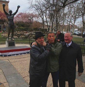 Me, Sly and Mayor Philadelphia