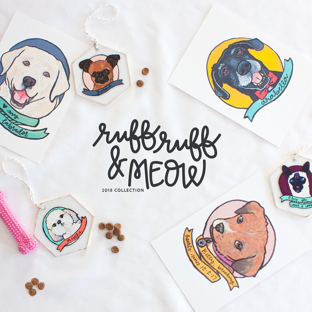 tails are a waggin', faces are a nuzzlin', and wings are a flappin' for this hand-painted pet collection.