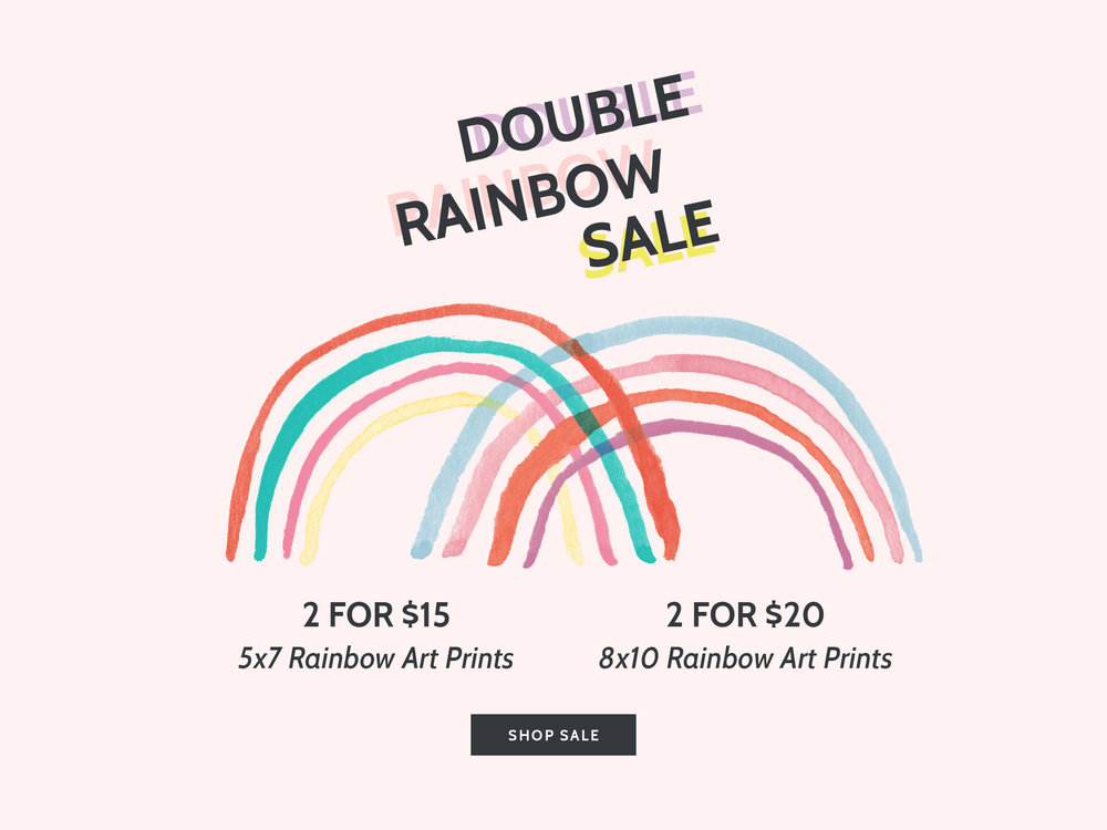 Double Rainbow Sale