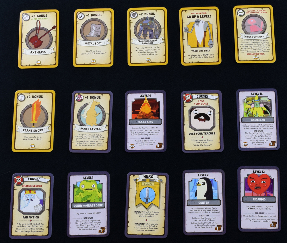 Munchkin Adventure Time card samples