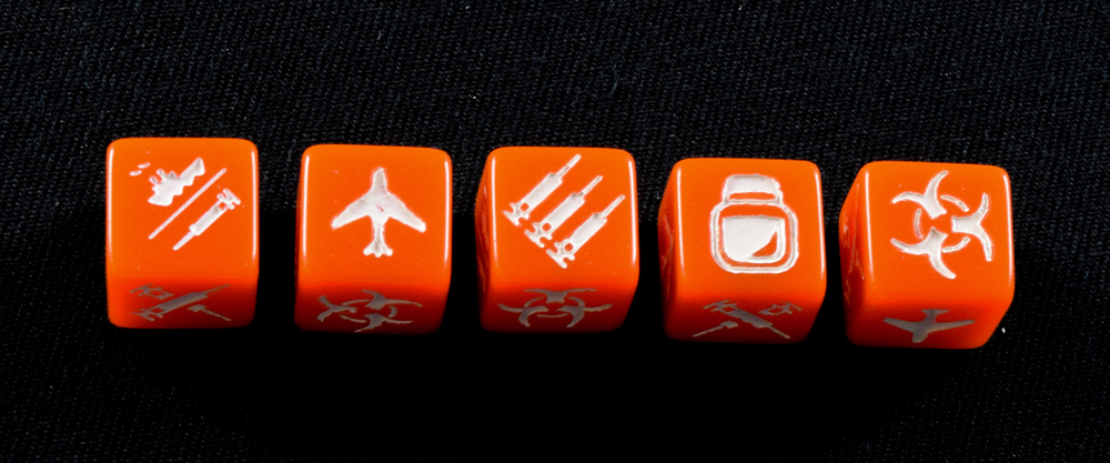 The Medic's custom dice.