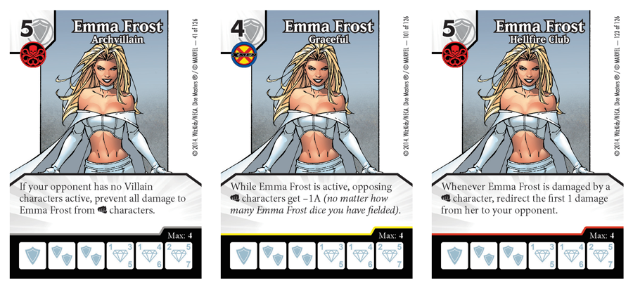 Each version of Emma Frost has a different ability.