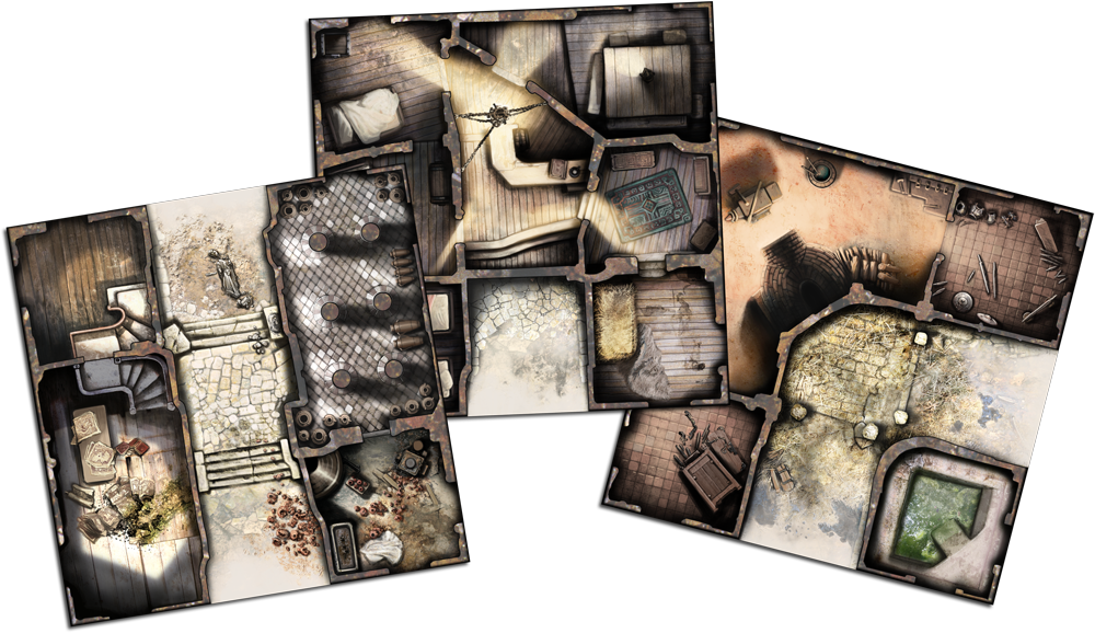 Zombicide: Black Plague Tiles