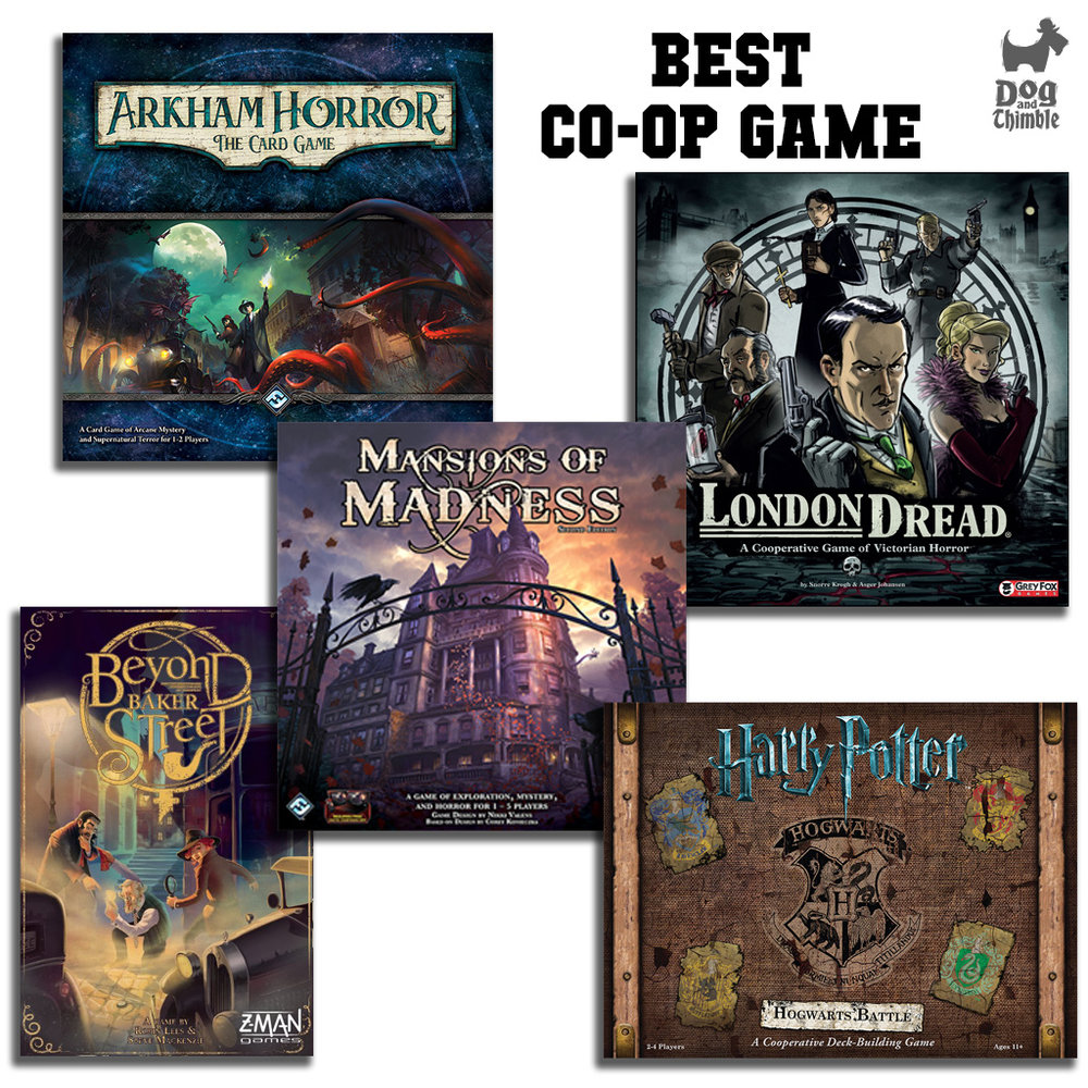 Best Co-op Game Arkham Horror: The Card Game Beyond Baker Street Harry Potter: Hogwarts Battle London Dread Mansions of Madness Second Edition