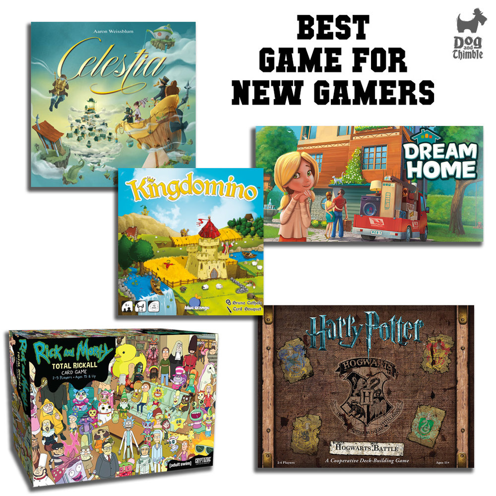 Best Game for New Gamers   Celestia Dream Home Harry Potter: Hogwarts Battle Kingdomino Rick and Morty: Total Rickall