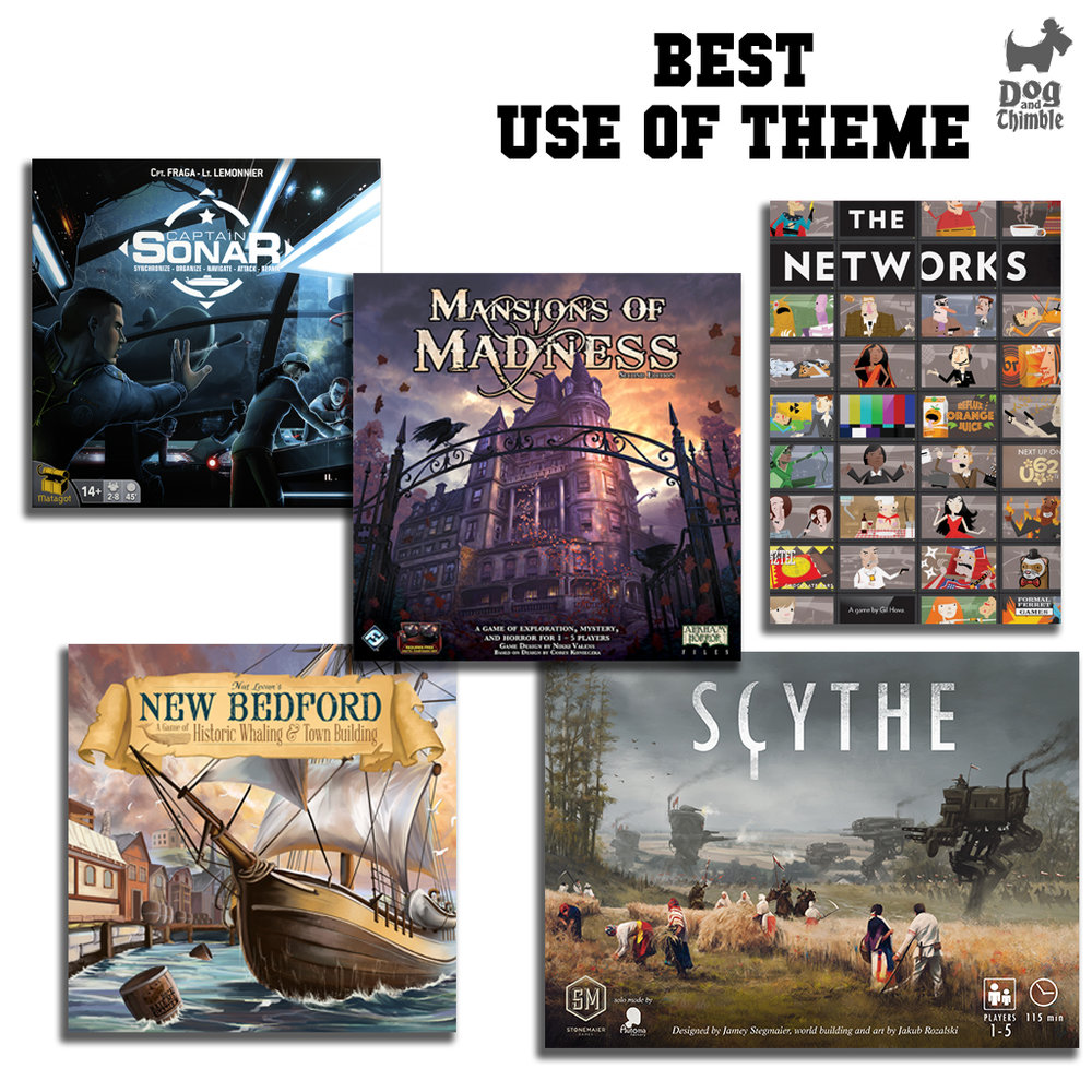 Best Use of Theme Captain Sonar Mansions of Madness Second Edition The Networks New Bedford Scythe