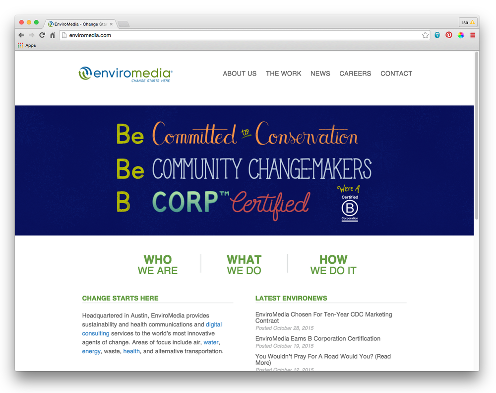 Enviromedia BCorp Certification