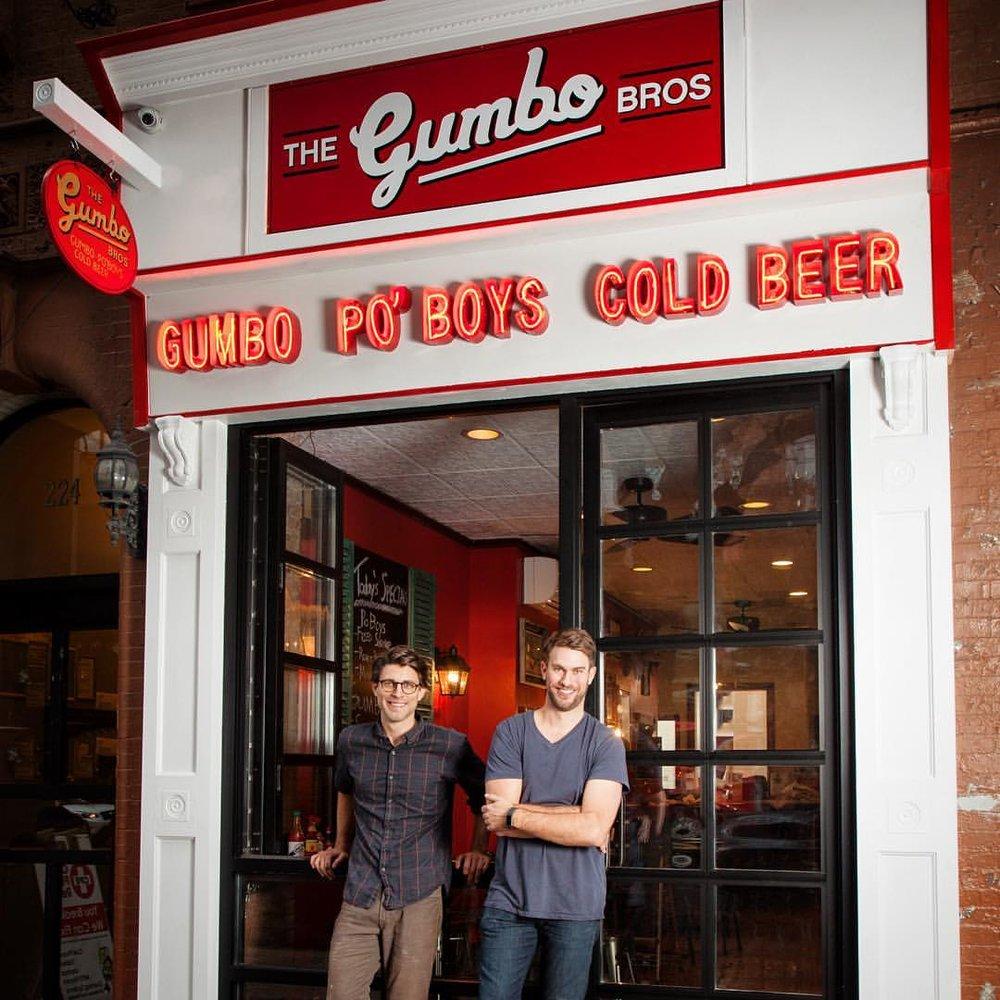 Gumbo Bros storefront, open December 1 2016
