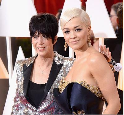 Diane Warren wearing #begrateful with Rita Ora!