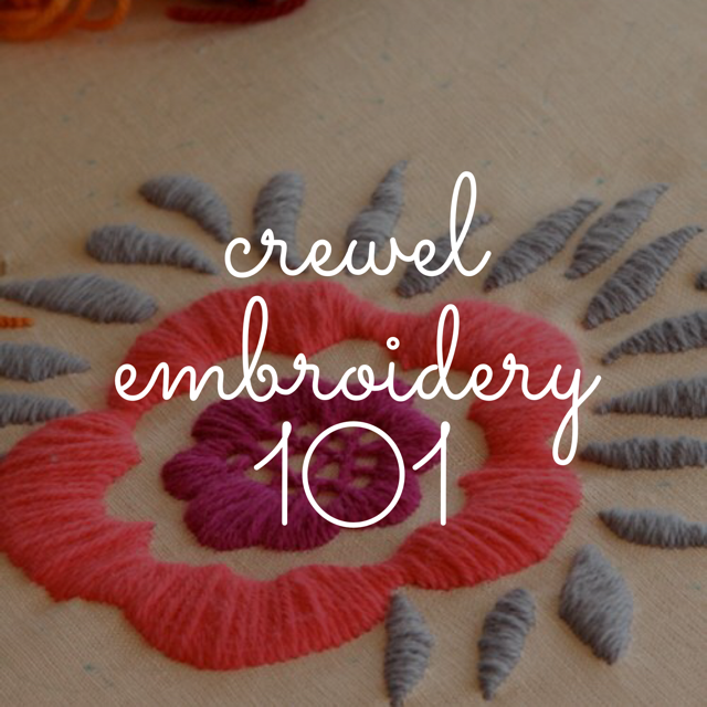 Crewel Embroidery 101 Am Pm And Weekend Sessions Available The
