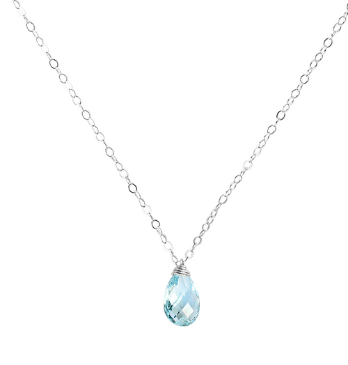 sparkling williams jewellery products raindrop custom necklace