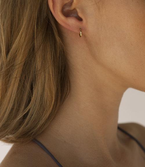Tiny Hoop Earrings — Hannah Frost Jewelry 86be6ba639796