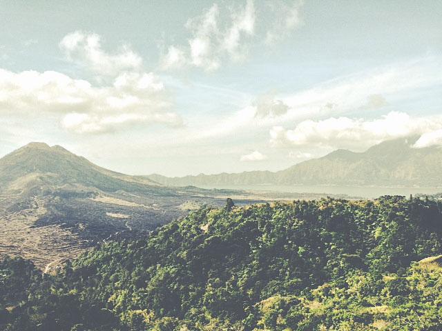 Gunung Batur, volcán activo en el sector de Kintamaní en Bali