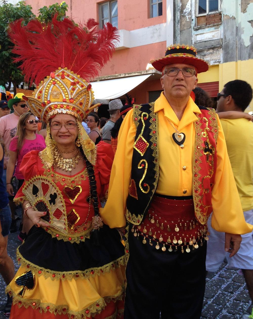 Participantes de un bloco de Frevo en Recife Antiguo. Foto: Miosoti Alvarado