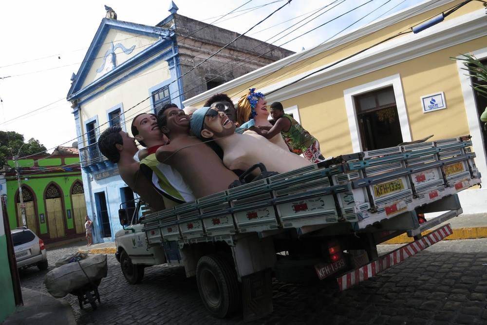 Cabezudos en Olinda. Foto: Patricia Alonso