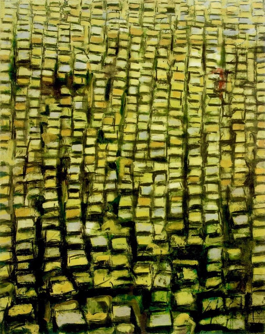 """Santiago, Carlos, Ídolos de lata, Óleo sobre tela, 50 1/8"""" x 40"""", 2004, Colección Reyes Veray"""