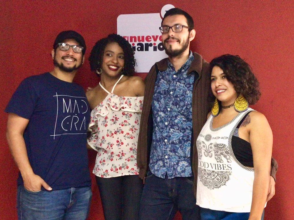Fernando Madera, Leonardo Osuna y Angelica Kolsan en entrevista con MúsicaPress. f. Miosoti Alvarado