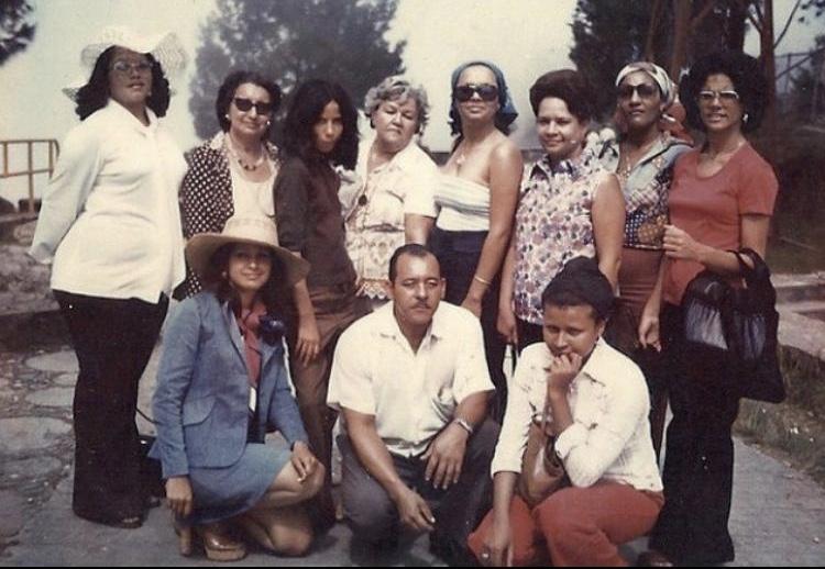 Familia de Victoria Delgado Garayua en los 70's.