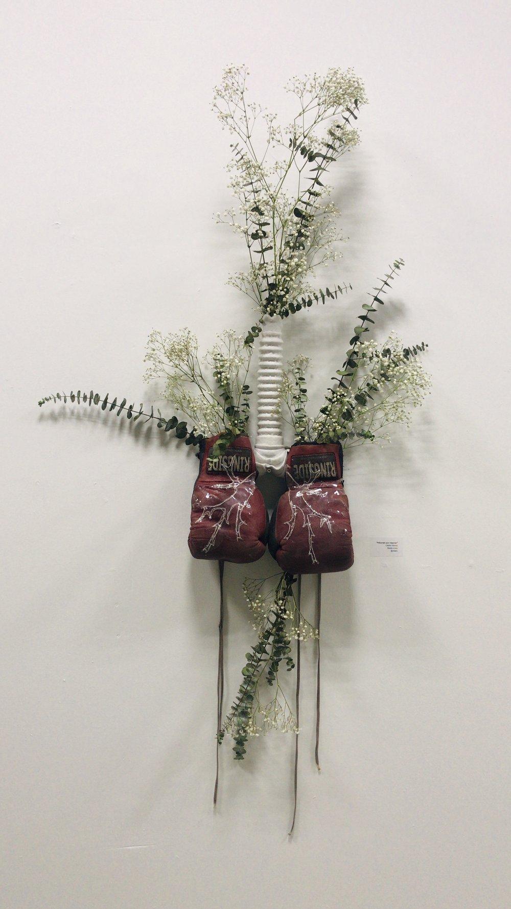 Peleando por Respirar. Pieza del artista Odalis Gómez .