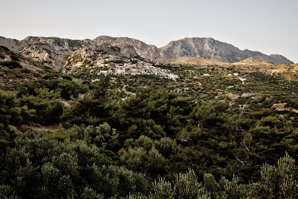 The village of Agios Ioannis, located on the southern coast of Crete