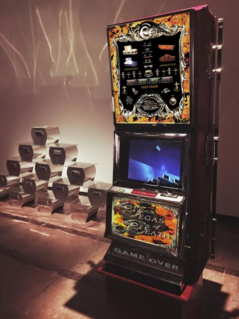 'Vegas of Death'  , Laurens Tan (1995- 2001)   Interactive Custom Slot Machines and Hoppers