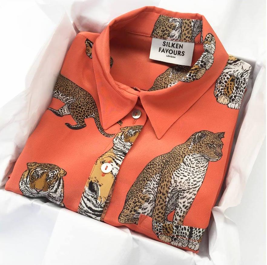 Silken Favours cat shirt