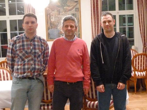 Kunin (links), Istratescu (mitte), Bauer(rechts)